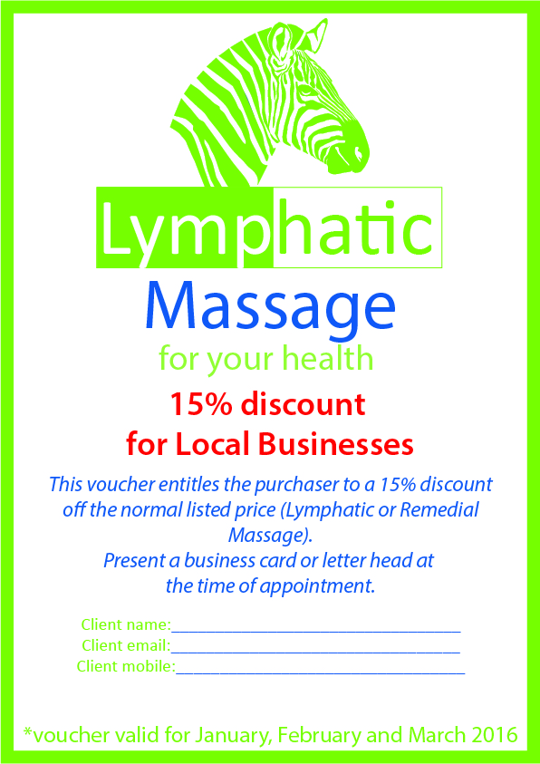 A4 local business 15% discount coupon