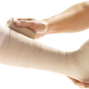 Bandaging (compression, retention and support)
