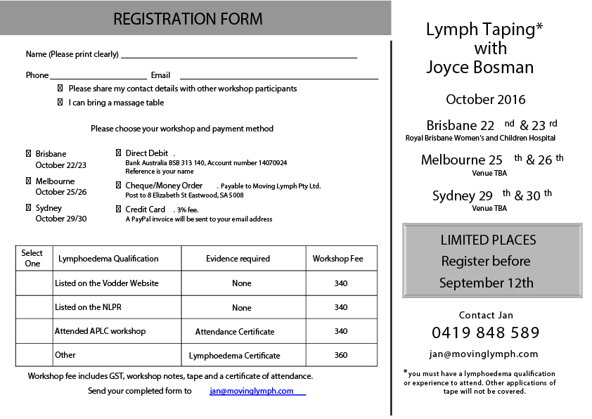 LymphTaping workshop 2016 Australia2
